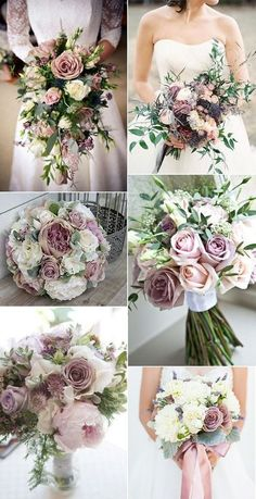 mauve shade of purple wedding bouquets