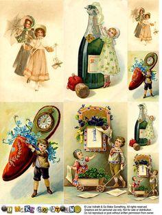 """de jolies reproductions de cartes vintage, à télécharger sur le site """"Go Make Something""""..."""