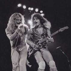 Eddie Van Halen ❤️ and David Lee Roth