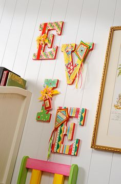 Craft Painting - Decoupaged Fabric Wall Letters