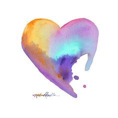 Tropical Daystar watercolor painting, watercolor painting artist,... ❤ liked on Polyvore featuring hearts, backgrounds, rainbow, watercolors and art