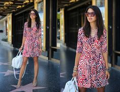 Banana Republic Dress, Yves Saint Laurent Bag, Schoutz Heels, Westward Leaning Sunnies