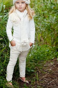 If I had a child anything like me, this white outfit, yet adorable would be disastrous!!