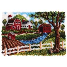 Heritage Homestead Latch Hook Kit - Herrschners #farm #barn #country
