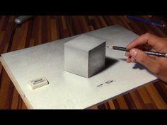 Zeichnen eines Würfels in 3D! Illusion / optische Täuschung! - YouTube