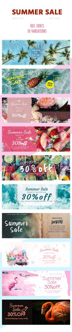 Sale Summer Banners - #Banners & #Ads Web Elements Download here:  https://graphicriver.net/item/sale-summer-banners/20350989?ref=alena994