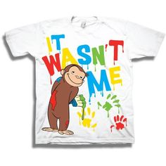 NBC Universal Curious George It Wasn't Me Toddler Boy Short Sleeve T-Shirt