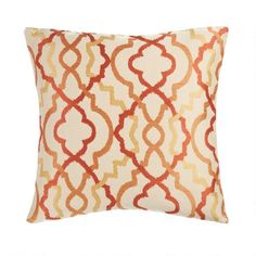 One of my favorite discoveries at ChristmasTreeShops.com: Rust Geometric Feather Filled Square Throw Pillow