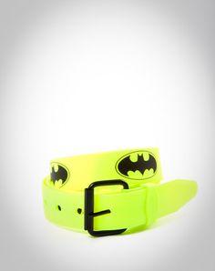 Batman Yellow Logo Rubber Belt
