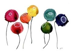 Poppies by jellybeans on etsy $15