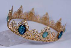 Phoenix Gold Coronet Full Circle Crown Gold Renaissance Game of Thrones Tudor Filigree Tiara