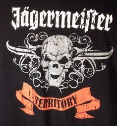 Jagermeister T-Shirt XXL Skull Territory Banner Graphic Black #Jagermister #GraphicTee