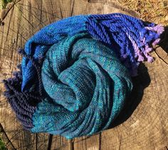 Arctic Night handwoven shawl made of softest luxury fibres