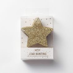 【Ginger Ray】 Star Glitter Bunting-Gold |LOUNGE WEDDINGのガーランド・リングピロー