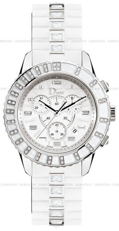 Christian Dior Christal Chronograph Ladies Wristwatch Model