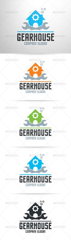 Gear House Logo Template