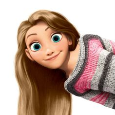 Modern Rapunzel edit (AurorTonks7) **I can edit to match your eye color, hair color, and sweater!