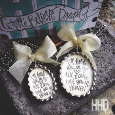 I'll hold you in my heart until I can hold you in Heaven Soldered Pend – Heather Hansen Designs