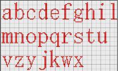 Schema punto croce Alfabeto msmincho minuscolo