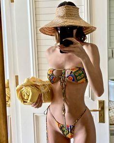 Twitter Bandeau Bikini Set, Mini Bikini, Bikini Bottoms, Bikini Tops, Kendall Jenner Swimsuit, Kendall Jenner Outfits, Kendall Jenner Instagram, Cute Bikinis, Swimsuits