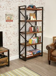 Urban Chic Large Open Bookcase | Bookcases | Furn-On