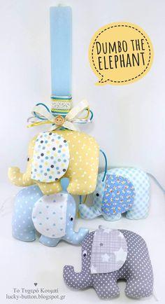 Dumbo The Elephant, Dinosaur Stuffed Animal, Cushions, Easter, Deco, Blog, Handmade, Trapillo, Fabrics