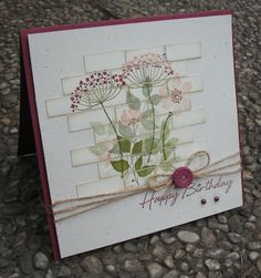 Stempelomis Bastelkeller: happy birthday mit Blumen