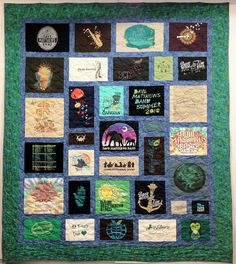 Custom T-Shirt Quilt by Patchwork Memories, Inc.    Beautiful custom t-shirt quilts, memory bears, custom memory quilts