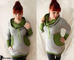 schnittmuster martha (milchmonster), als pulli oder kleid mit vielen variationsmöglichkeiten, schwangerschaftstauglich