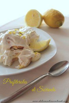 Una ricetta del contest Terra di Fuoco, da non dimenticare!Profiteroles al limone di Sorrento http://www.gennarino.org/wordpress2/profiteroles-al-limone-di-sorrento/