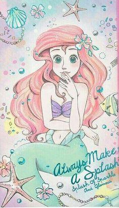 Best disney art drawings simple the little mermaid 70 Ideas Ariel Disney, Disney Songs, Disney Girls, Disney Magic, Goth Disney, Disney Quotes, Disney Princess Drawings, Disney Princess Art, Disney Drawings