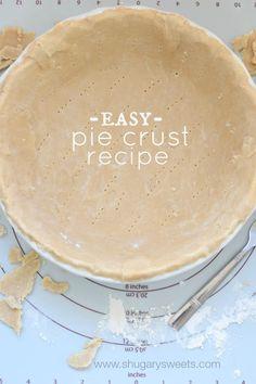 Caramel Cream Pie and Easy, homemade Pie Crust recipe. Best Dessert Recipes, Fun Desserts, Delicious Desserts, Homemade Pie Crusts, Pie Crust Recipes, Homemade Recipe, Sweet Pie, Pie Dessert, Cream Pie