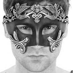 New Roman Men Warrior Venetian Masquerade Mask by Glamorousgala