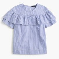 Edie top in shirting stripe : Women tops & blouses | J.Crew