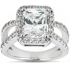 6.18 carat RADIANT cut DIAMOND 14k Gold RING - Click to find out more - http://gioweddingrings.com/6-18-carat-radiant-cut-diamond-14k-gold-ring/