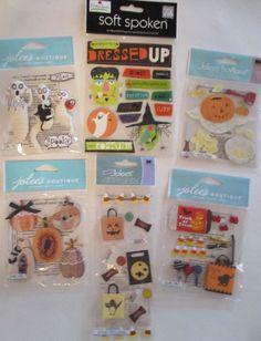 Scrapbooking Stickers Lot Jolee's Boutique & Soft Spoken HALLOWEEN Ghosts #JoleesBoutique #DimensionalEmbellishments
