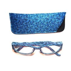 1.50 reading glasses blue pattern with case 1.50 reading glasses blue pattern with case Accessories Glasses