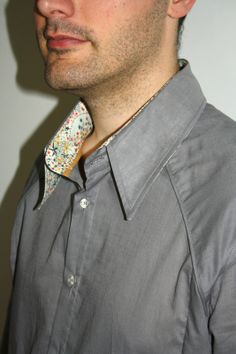 Chemise pour homme SAPHIR, détail col et finitions, Grains de Couture Homme & Femmes, Ivanne SOUFFLET, by Mademoiselle Bulette