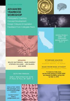 College Advanced Yearbook Workshop in Anaheim 9/30-10/2/2016