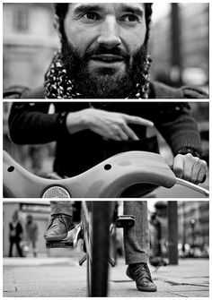 Triptychs of Strangers #3: The Cyclist, Paris by theblackstar, via Flickr