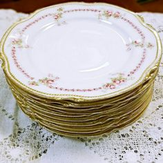 Our vintage china. We have mismatched place settings for intimate gatherings and up to 100 people.
