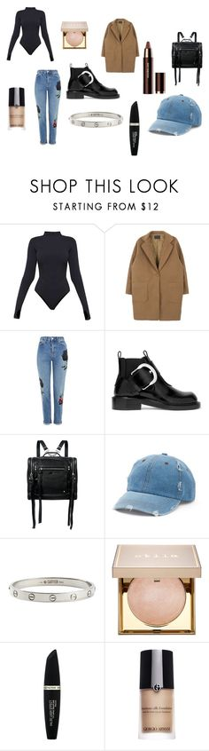 """""""Bez naslova #1243"""" by lucija-mestrovic ❤ liked on Polyvore featuring Ivy Park, Topshop, Maison Margiela, McQ by Alexander McQueen, Mudd, Cartier, Stila, Max Factor, Giorgio Armani and Hourglass Cosmetics"""