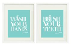 Kid's Bathroom wall print (2 prints)