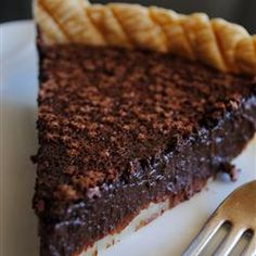 Chocolate Chess Pie II Allrecipes.com. This is so easy and absolutely delicious!
