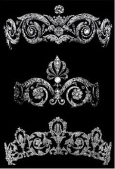 Mystery French Chuamet tiaras. Perhaps from the Chaumet Museum. Hints?