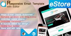 180 Absolute Best Responsive Email Templates - eStore - Responsive Email Template with Editor