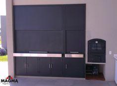 Parrilla Interior, Argentine Grill, Custom Bbq Pits, Gun Cases, Wood Fired Oven, Industrial House, Outdoor Gardens, Locker Storage, Outdoor Living