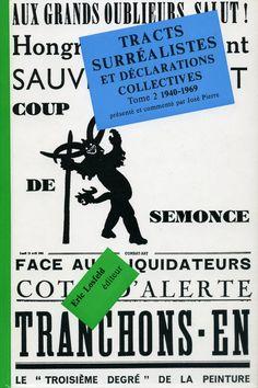 Tracts surréalistes vol.2 . Maquette de Pierre Faucheux Book Cover Design, Book Design, Design Design, Illustrations And Posters, Trees To Plant, Typography, Branding, Graphic Design, Words
