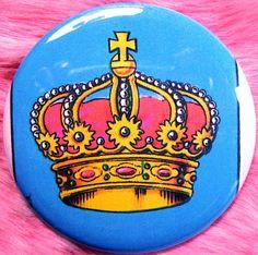Pocket Mirror  Loteria  La Corona  Mexicana by fussygussy on Etsy, $6.00