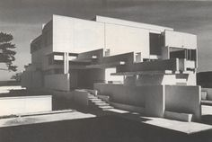Paul Rudolph - NCMH Modernist Masters Gallery 1971 - The Bert Dweck Residence, 4 Parker Avenue, Deal NJ. B/W photos by Donald Luckenbill. Renovations by Rudolph in 1986.